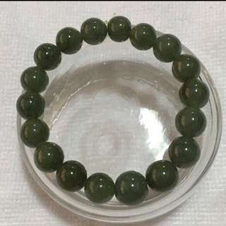 CLEARANCE SALES {Collectibles Item - Jade Bracelet} 💯% Authentic Burmese Grade A Natural Jade Greenish 18 Beads Bracelet