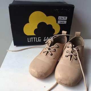 LITTLE SACHI light brown leather shoes size 17 sepatu anak kulit