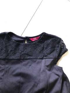Cap sleeved lace skater dress