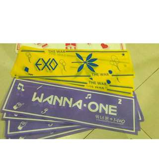 [READY STOCK] EXO,BTS,TWICE,SEVENTEEN, WANNA ONE SLOGAN/HANDBANNER