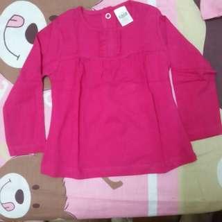 🆕️Zara baby dark pink top
