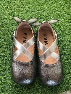 Kid / Girl ballerina silver shoes
