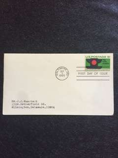 US 1965 Traffic Safety FDC stamp