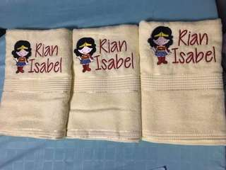 Wonderwoman (Customised towels)