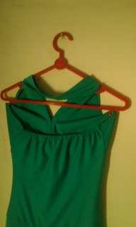 Gaun pesta  mini, colour : hijau tosca