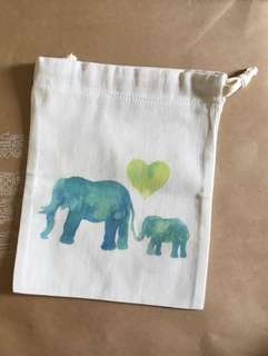Pure Cotton pouches - Mother's Day,rainbow 🌈 , Fox 🦊, ♥️s