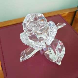 Swarovski 水晶擺設  完美玫瑰花