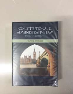 Constitutional and Administrative Law Textbook
