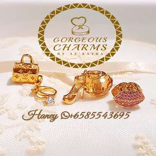 Super Gorgeous Charms 916 Gold