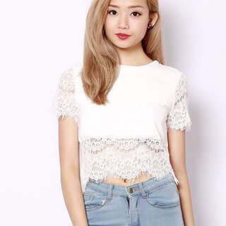 ShopSassyDream Lace Crop Top | 1 for $6 2 for $10