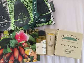 Avocado travel set