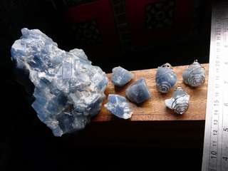(Raw) Blue Calcite for Calming Communication