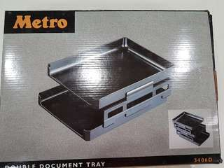Metro double layer tray