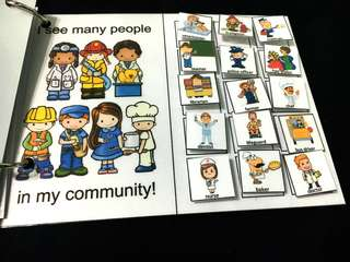 DIY Interactive book: Community Helpers
