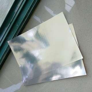 Silver Foil card A4 (partially reflective?