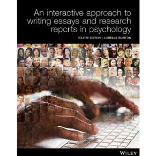 An Interactive Approach to Writing Essays and Research Reports in Psychology, Fourth Edition