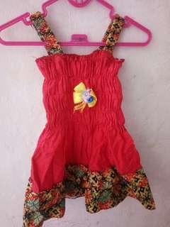 Dress Batik Anak 1-2thn. Mulus bgt