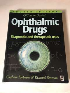 Ophthalmic Drugs - Diagnostic and therapeutic uses (4th Edition)