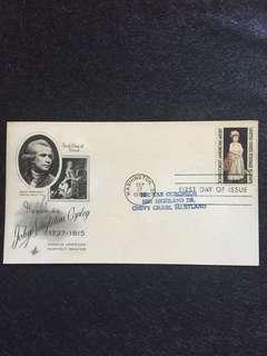 US 1965 John Singleton Copley FDC Stamp