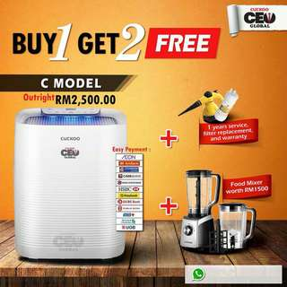 FREE MAX BLENDER with any outright water purifier or air purifier