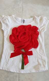 Rose top (size 90)