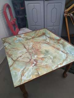 Formica marble side table