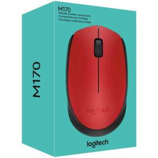 Logitech M170 Wireless Mouse (Red)