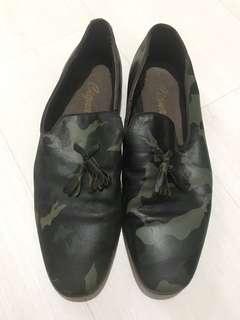 Genuine Camo Leather Slip On Shoe