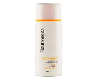 Neutrogena Ultra sheer water lotion 30ml (market price $20.9). Happy mother day good price!