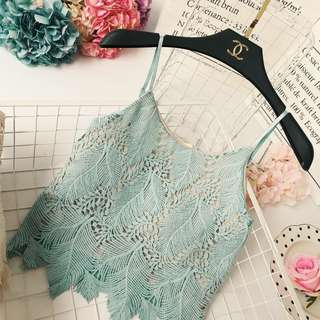 Ariah Spag Crop Top (Turquoise)