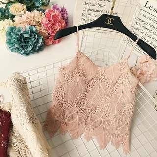 Ariah Spag Crop Top (Pink)