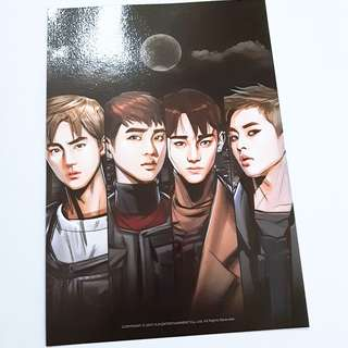 EXO The power of music Suho Xiumin Chen D.O. comic cover page