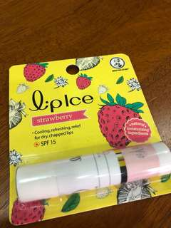 LipIce strawberry lip balm