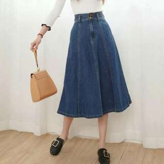 Denim long skirt (ps)