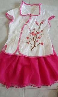 Kid cheong sum dress set (3T)