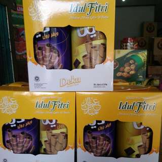 Paket astor  deka isi 2 toples rasa coklat kacang dan pisang