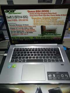 Acer Swift 3 SF314-52G bisa dicicil Tanpa Cc