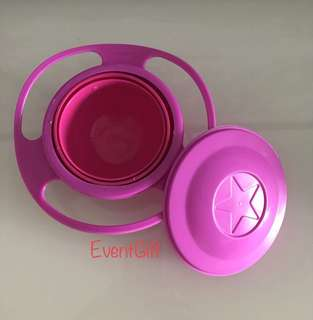 Non spill rotation bowl for baby (pink) - children birthday goodies favors, goodie bag packages with EventGift