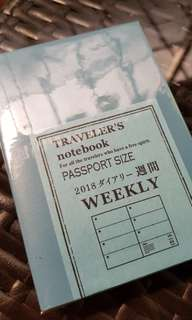 Midori Traveler's Notebook 2018 diary weekly passport
