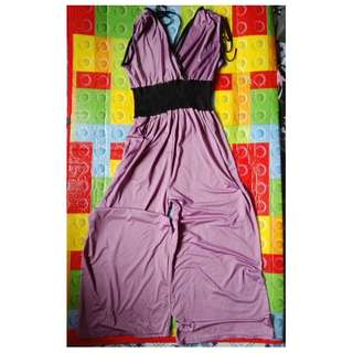 Worn once plum jumpsuit freesize