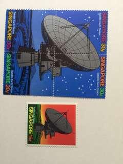 Satellite stamp set.
