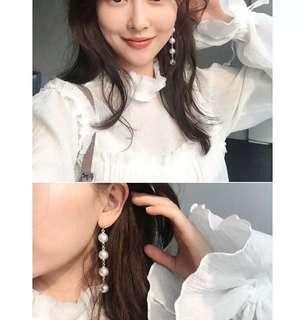 $49 韓風珍珠串連耳環