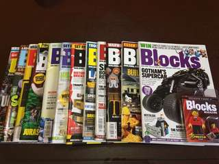 """Blocks"" Magazines Issue 1 to 12 w/Minifig #1"