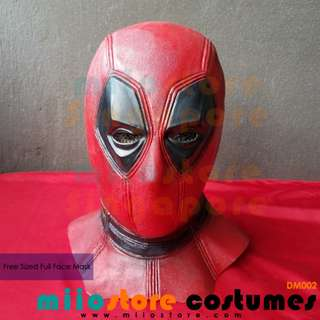 RENT/BUY Deadpool Full Faced Mask Helmet Cover Neck Costumes Accessories