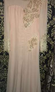 Dress peach colour