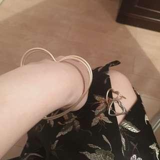 🚚 (預購)少女訂製愛心戒指 手環 金銀兩色