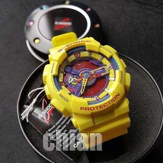 CASIO G-SHOCK GA-110A-9A Hyper Color Yellow New Genuine