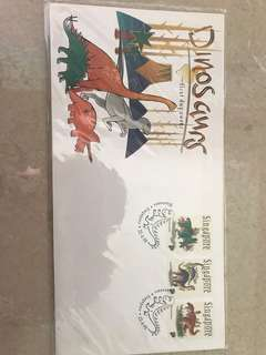 1998 Singapore First Day Cover Dinosaurs