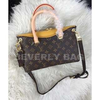 jual tas LV Pallas Monogram MIRROR QUALITY - yellow