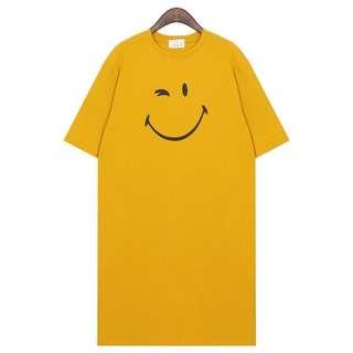 🚚 Smile 微笑眨眼家居休閒t恤洋裝